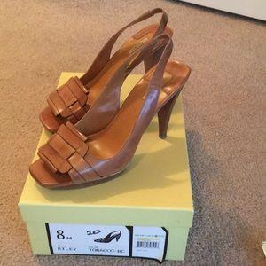 Max Studio; peep toe, sandal; size 8